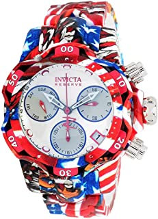 Invicta Women's Reserve Venom Quartz Diving Watch with Stainless Steel Strap, Silver, Aqua Plating, 20 (Model: 34653)
