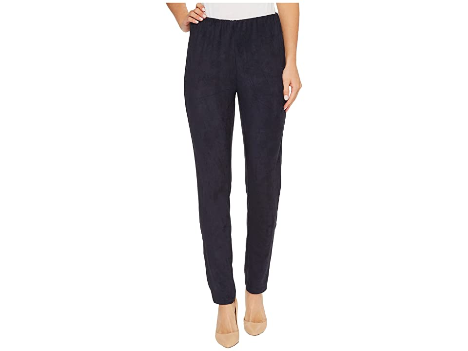 B Collection by Bobeau Roland Faux Suede Leggings (Navy) Women