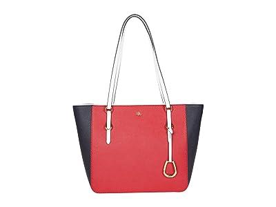 LAUREN Ralph Lauren Crosshatch Leather Shopper Medium