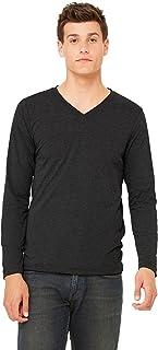 Bella + Canvas Unisex Jersey Long-Sleeve V-Neck T-Shirt