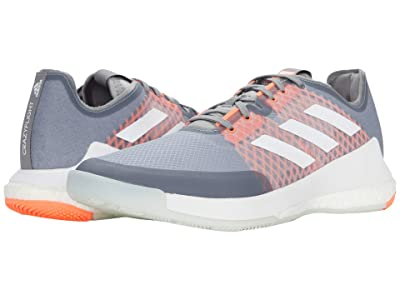 adidas Crazyflight (Grey Three/Footwear White/Signal Coral) Men