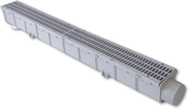 NDS 764 Pro-Series Channel Drain Kit, 3-Inch, Gray