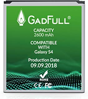GadFull Battery Compatible with Samsung Galaxy S4   Corresponds to The Original EB-B600BE   Compatible with Galaxy S4 i9500 & LTE i9505