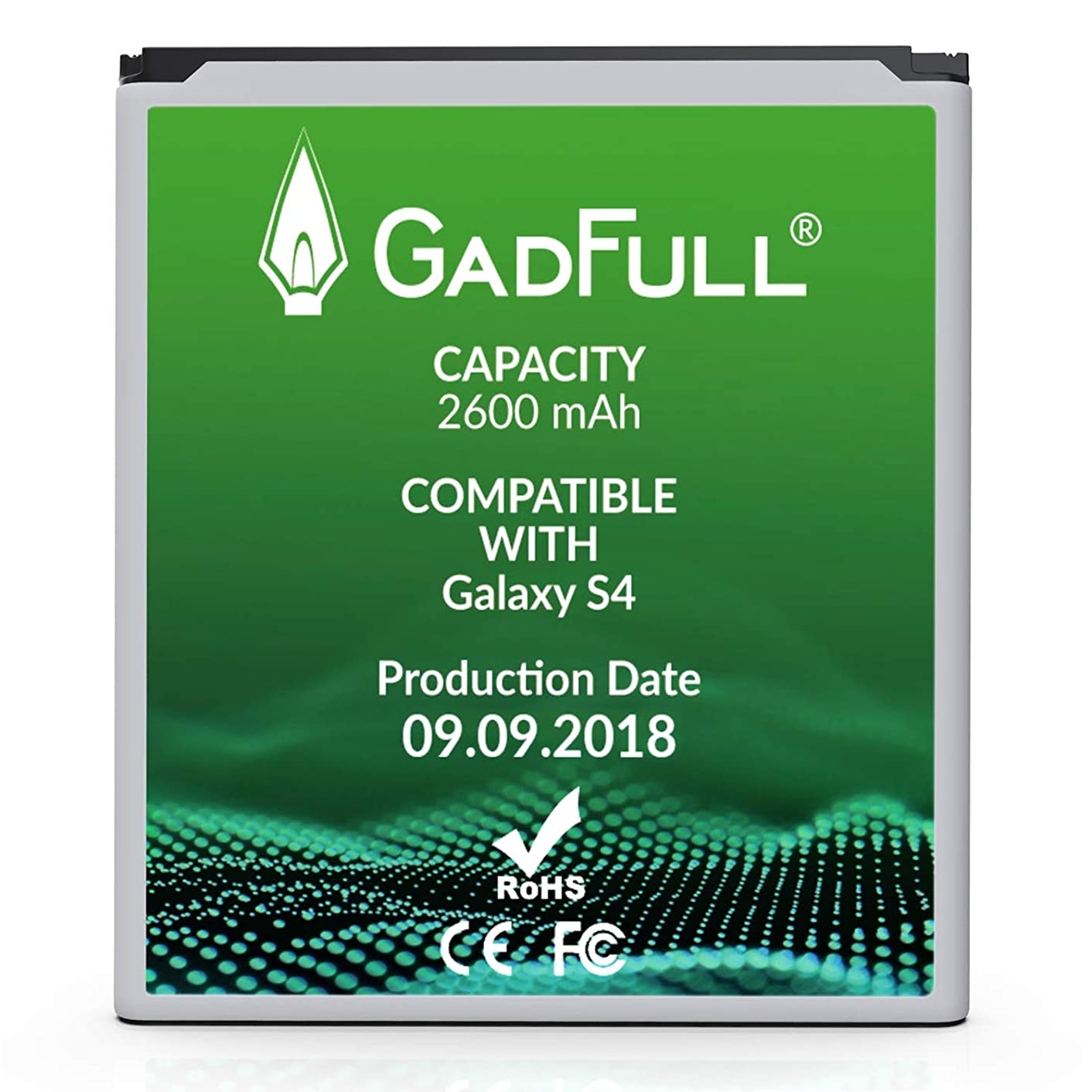 GadFull Battery Compatible with Samsung Galaxy S4 | 2018 Production Date | Corresponds to The Original EB-B600BE | Compatible with Galaxy S4 i9500 & LTE i9505 xjsylkjd40936708
