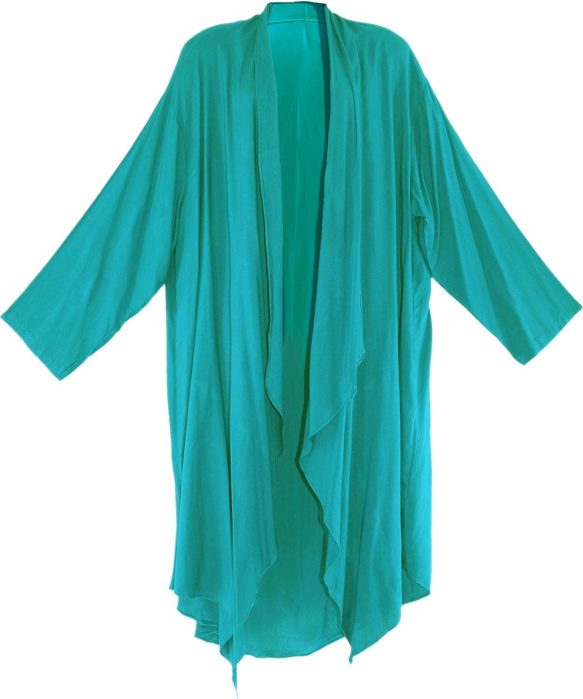 Beautybatik Long Sleeve Cardigan Cover up Duster Jacket