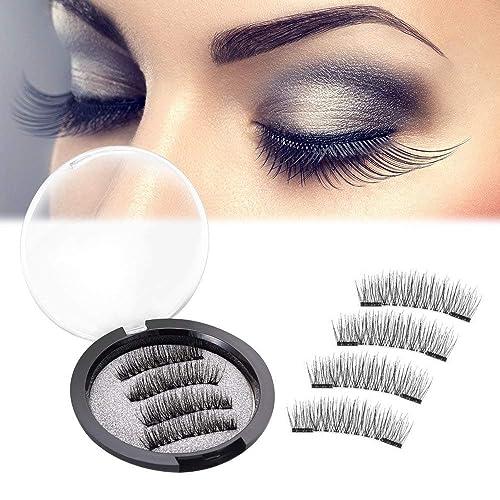 4b16f561805 Magnetic Eyelashes 3D False Lashes Mink Eyelashes Reusable Ultra Thin No  Glue 0.2mm Fake Eyelashes