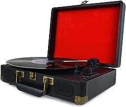 guizhoujiufu Radio Speaker Home Speakers Vintage 33/45/78 RPM Bluetooth Portable Suitcase Turntable Vinyl LP Record Player... photo