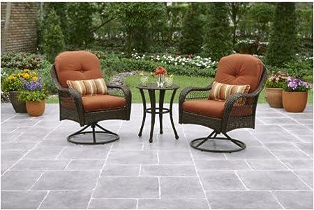 Amazon Com 3 Piece Outdoor Furniture Set Better Homes And Gardens Azalea Ridge 3 Piece Outdoor Bistro Set Seats 2 Garden Outdoor