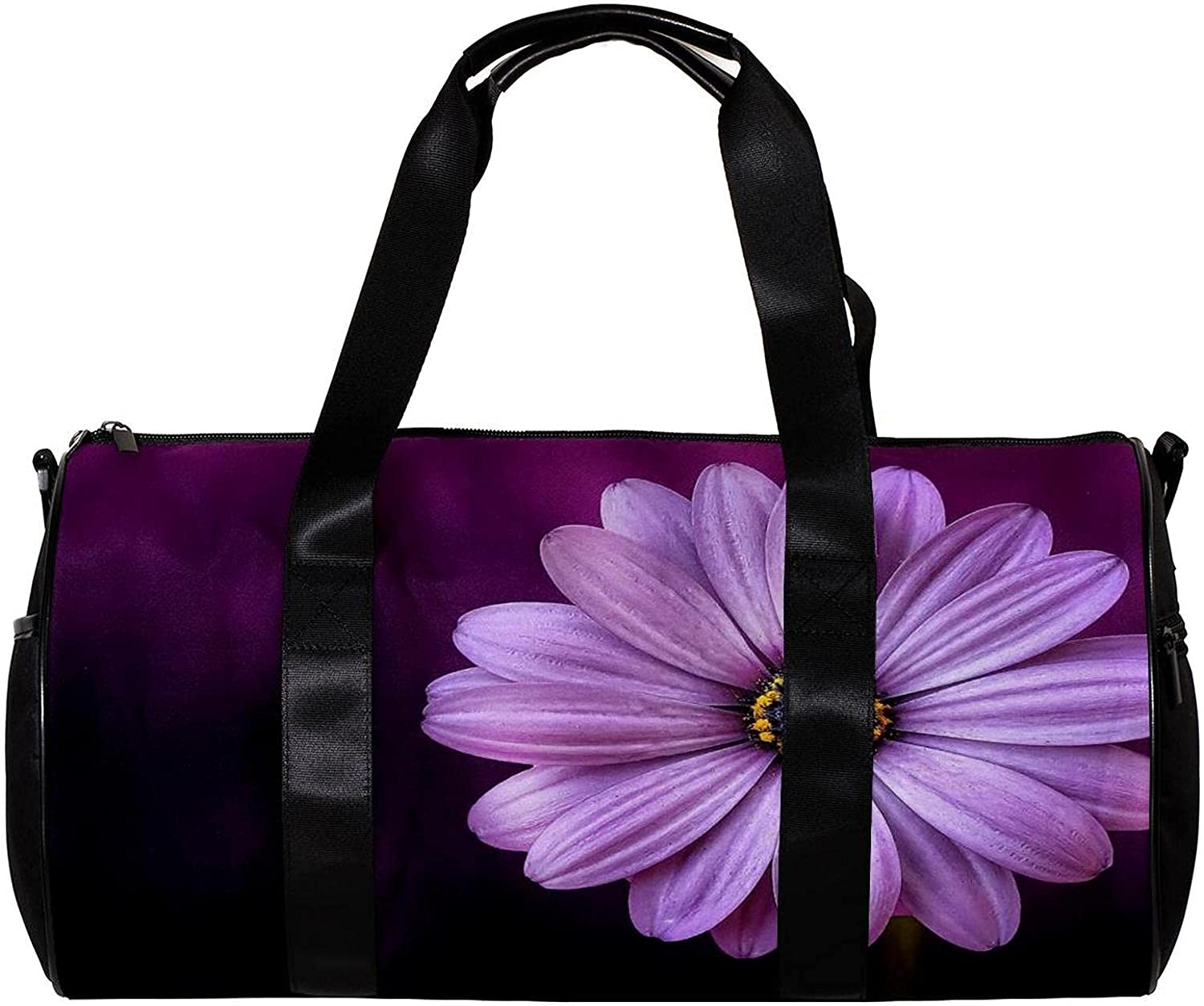 Bucket of sports bag Flower Purple Max 58% OFF inch Gym Popular products Duffe size: 17.7x9x9