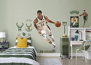 FATHEAD NBA Milwaukee Bucks Giannis Antetokounmpo Officially Licensed Removable Wall Decal