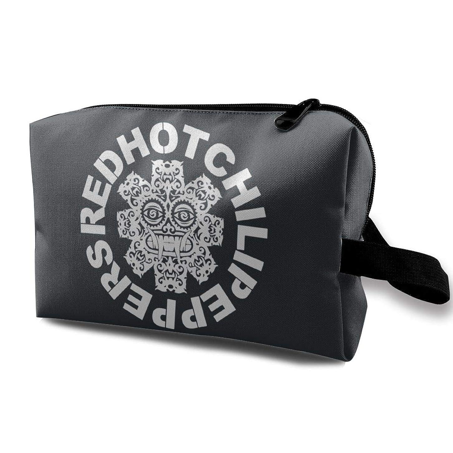 車両遠征息を切らして化粧ポーチ コスメケース 小物入れ コスメ 高品質 大容量 旅行 出張 普段使い 軽い 持ち運び便利 メイクボックス スポーツ プレゼント Red Hot Chili Peppers Logo