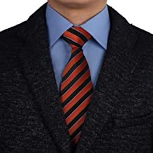 Epoint Men`s Fashion Multicolor Silk Stripe Extra Long Tie For Boyfriends