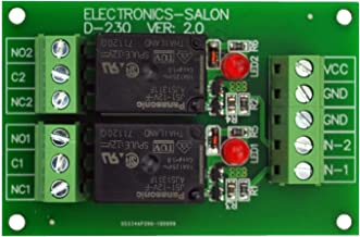 Electronics-Salon 2 SPDT 10Amp Power Relay Module, DC 12V Version.