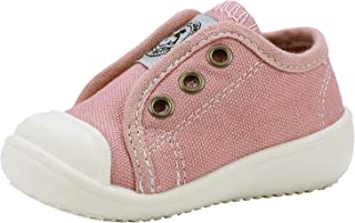 GZTEESER Boy's and Girl's Slip-on Canvas Sneakers Casual Walking Shoes