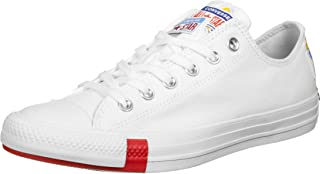 Converse Chuck Weiß 166737C Chuck Taylor All Star Logo Stacked OX White University
