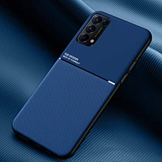 New Cell Phone Shell For OPPO Reno5 5G Classic Tilt Strip Grain Magnetic Shockproof PC + TPU Case Phone Cases