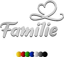 3D muursticker FAMILIE van hout met het lettertype | Sweet | in 7 verschillende kleuren en 3 maten. Spreuken voor de keuke...