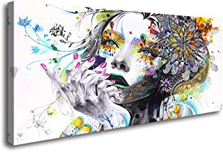A74150 Canvas Wall Art Beautiful Flower Girl Painting Posters Print Pictures Stretched..
