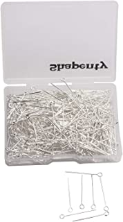 Gold, 35mm Shapenty 400PCS Mini Metal T Style Wire Headpins Beading Small Head Pins Needles Bulk for DIY Craft Bead Earring Pendant Necklace Bracelet Jewelry Charm Finding Making