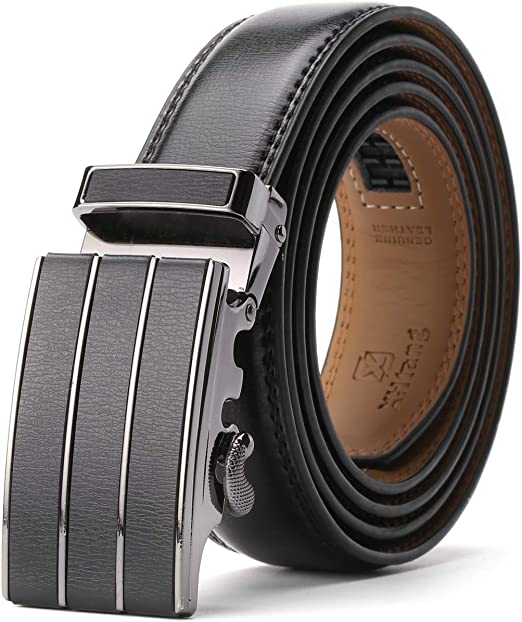 Xhtang-Men's-Solid-Buckle-with-Automatic-Ratchet-Leather-Belt
