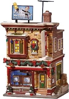 Department 56 Snow Village Buds T.V. and Hi-Fi Lit Building