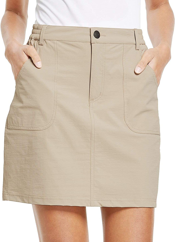 BALEAF Women's Outdoor Skort UPF 50 Active Athletic Skort Casual Skort Skirt with Zip Pockets Hiking Golf: Clothing