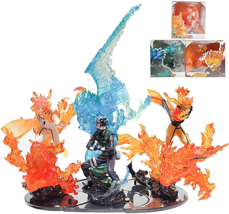 Max 71% OFF 3Pcs Year-end annual account Naruto Flame Uzumaki Namikaze Figures Kakashi Minato