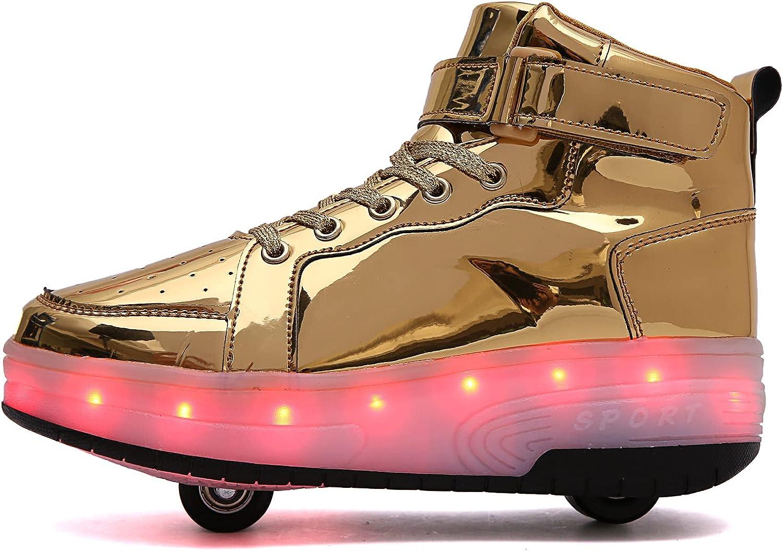 PYYIQI Light Seattle Mall Up Shoes LED Roller Translated Wheels S Boys Skate Girls