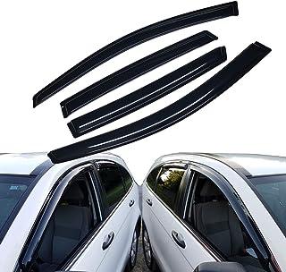 Lightronic WV94446 Tape-on Window Visors Rain Guards Smoke Tint 4PCS Set Fit for Buick Encore 2014-2019