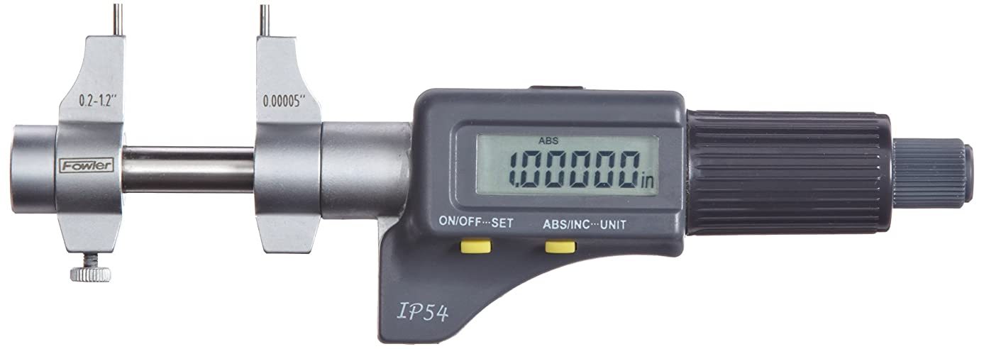 "Fowler 0.2-1.2"" Electronic IP54 Inside Micrometer 54-860-275-0, Full One Year Warranty, 0.00020″/.005mm Accuracy"