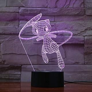 Lampara LED Pokémon Mew Cambia Color USB Luz Nocturna