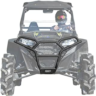 SuperATV Sport Front Brush Guard Bumper for Polaris RZR 800 / S 800/4 800/800 XC (See Fitment) - Wrinkle Black