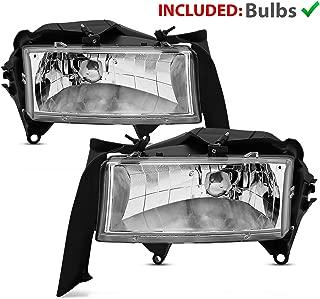AmeriLite Crystal Replacement Headlights Set for Dodge Dakota/Durango - Passenger and Driver Side