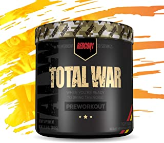Redcon1 Total War - Pre Workout, 30 Servings, (Tigers Blood) Boost Energy, Increase Endurance and Focus, Beta-Alanine, 350mg Caffeine, Citrulline Malate, Nitric Oxide Booster - Keto Friendly
