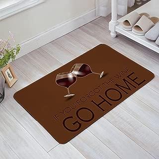 Libaoge Cartoon Red Wine Glasses Cheers GO HOME Doormat Entrance Mat Indoor/Outdoor Door Mats Floor Mat Rug Mat