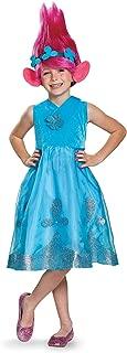 Poppy Deluxe W/Wig Trolls Costume, Blue, Small (4-6X)