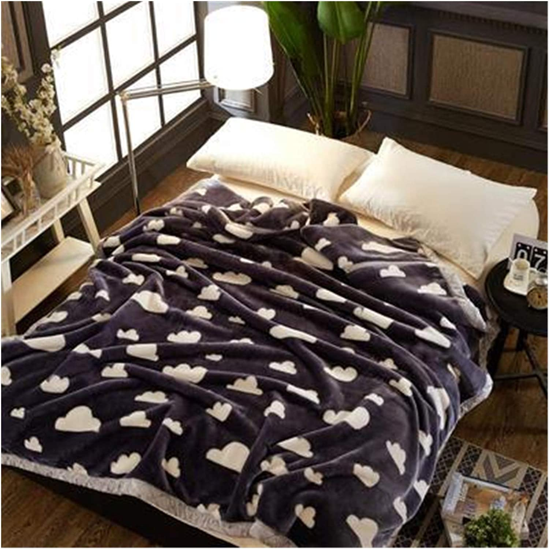 JDJD Super Soft Winter Raschel Blankets Fur Oakland Mall Super-cheap Layer Mi Faux Double