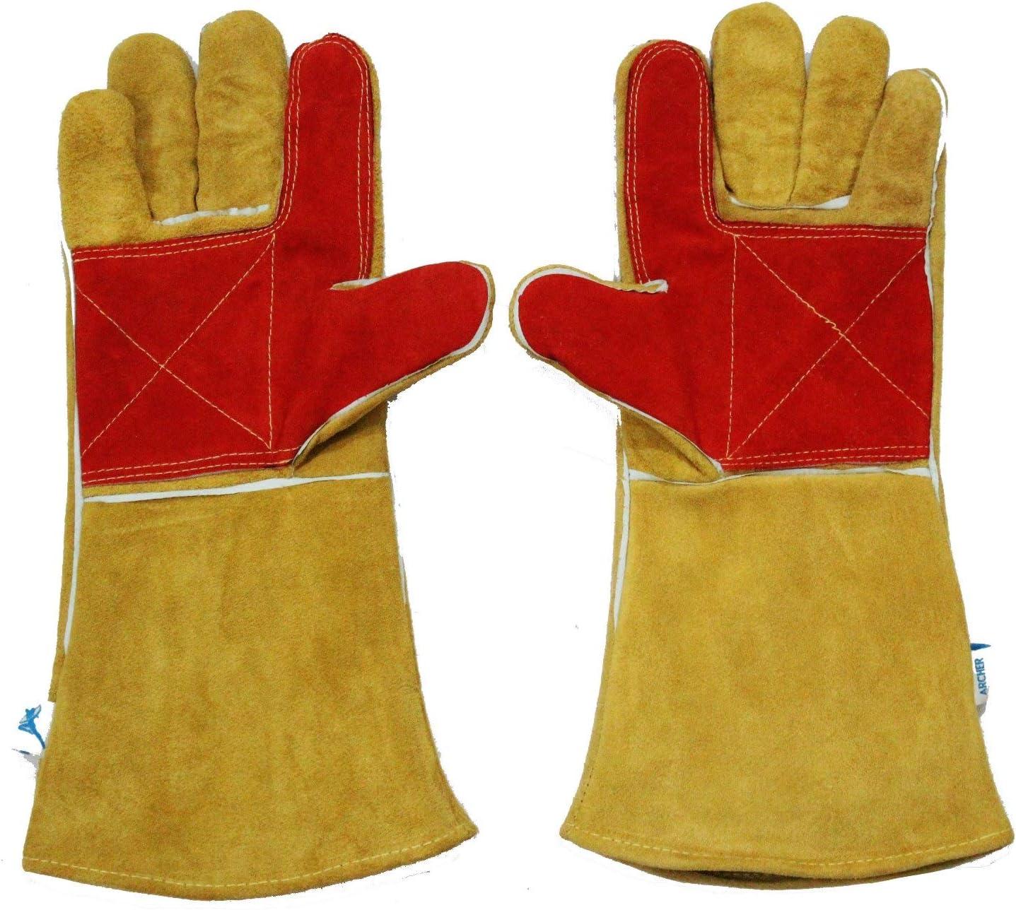 Archer Welding Gloves High Temperature Idea New San Antonio Mall color Resistant Heavy Duty