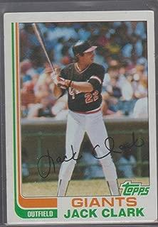 1982 Topps Jack Clark Giants Baseball Card #460