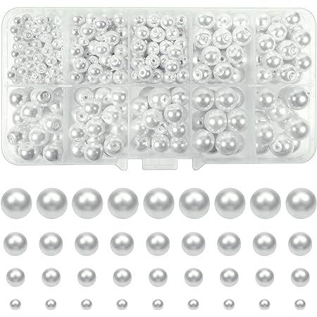 1 Glassplitterstrang schwarz weiss 82 cm Perlen neu 5357