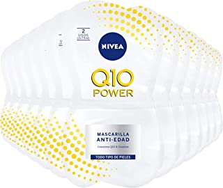 NIVEA Q10 Power Mascarilla Antiedad pack 24 (24 x 15 ml) mascarilla facial antiarrugas para suavizar las líneas de expres...