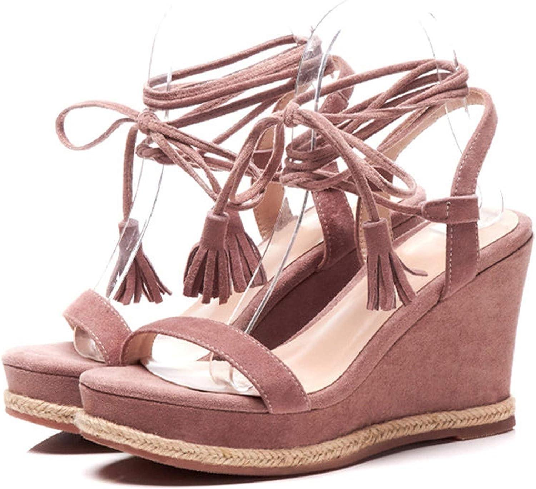Yeenvan Genuine Leather Kids Green color Gladiator High Heels Platform Wedges Sandals Women Size 34-39