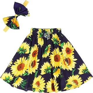 Áo quần dành cho bé gái – Girls Floral Skirts Kids Flutter Maxi Skirt Party Summer Boho Beach Long Dress