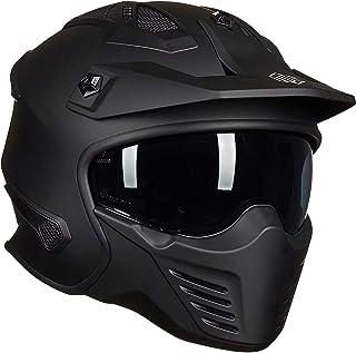 M 54-55cm 54-61cm SSYWX Modular Double Sun Visor Flip Up Front Motorbike Motorcycle Helmet,DOT Certification,M-XL