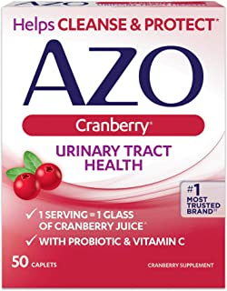 Azo Cranberry Urinary Tract Health Dietary Supplement Caplets - 50 Ct., Pack of 4