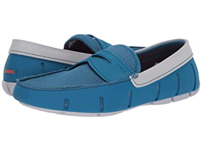 SWIMS Penny Loafer (Seaport Blue/Alloy) Men