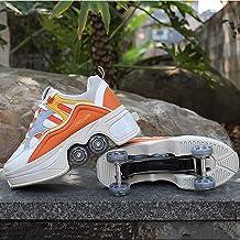 Schoenen Met Wielen Voor Meisjes/Jongens, Rolschaatsen, Intrekbare Kick Roller Schoenen, 2-in-1 Parkour Schoenen/Skatescho...