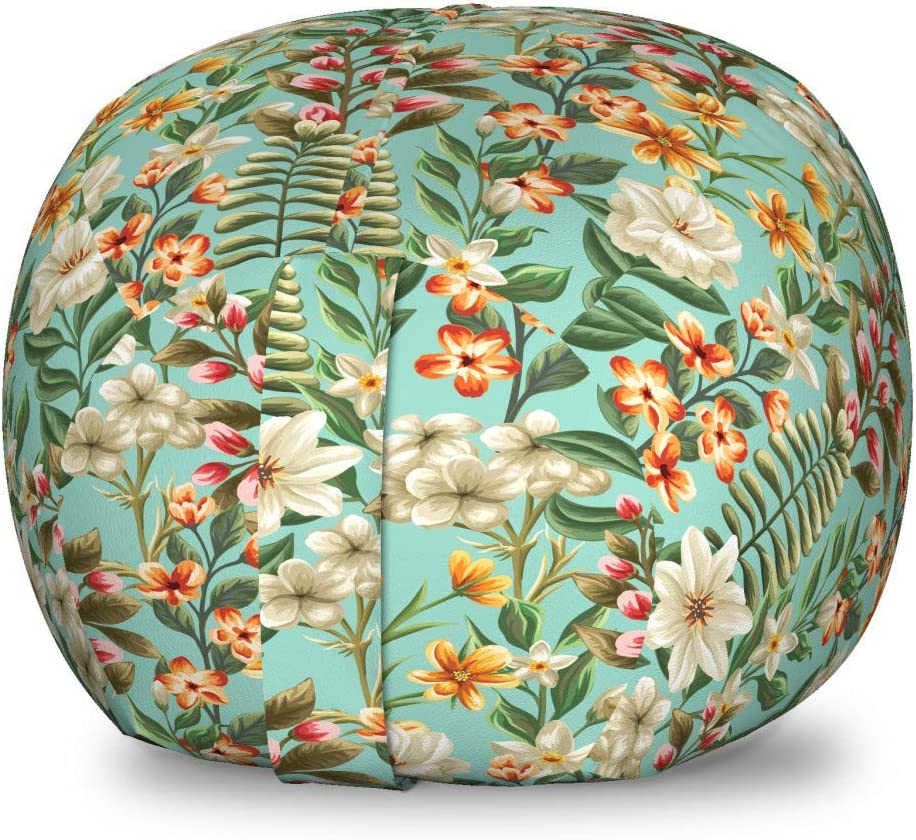 Wholesale Ambesonne Floral Hawaiian Storage Toy Ranking TOP12 Botanica Bag Exotic Chair