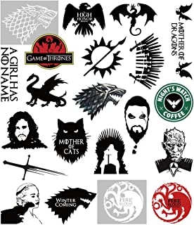 S-001 21pcs Game of Thrones Stickers Winter is Coming Fire and Blood MacBook Decal Vinyl Sticker Mac Air Pro Retina Laptop