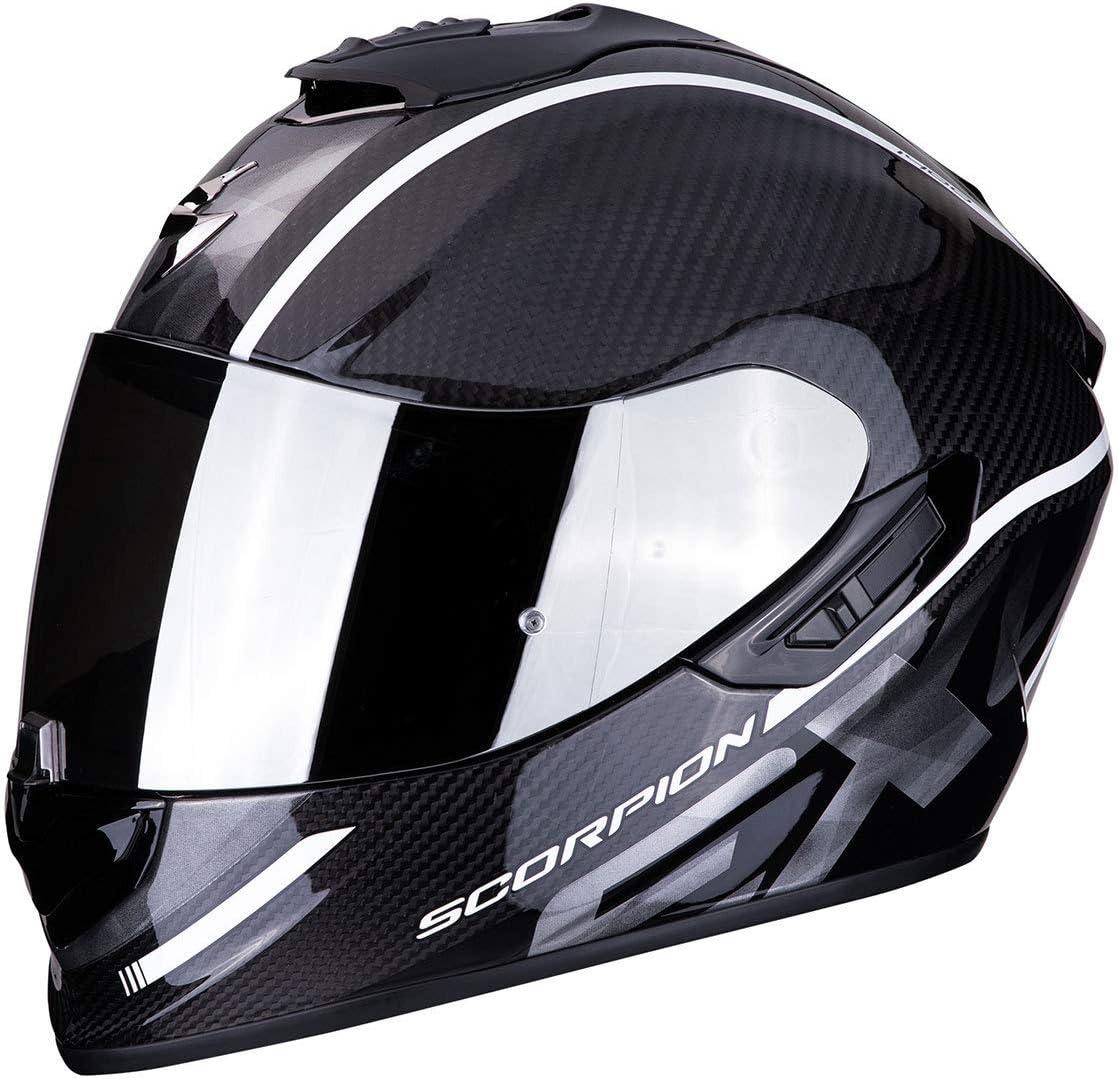 Scorpion Unisex Erwachsene Nc Motorrad Helm Schwarz Weiss Xl Auto
